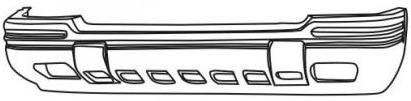 ПЕРЕДНИЙ БАМПЕР С ОТВЕРСТИЯМИ ПОД ПРОТИВОТУМАНКИ ГРУНТОВАННЫЙ (LTD) ДЛЯ Джип Гранд Чероки