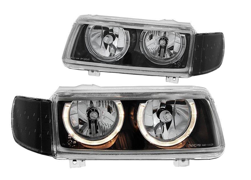 Тюнинг - комплект фар прозрач ангельские глазки для Фольксваген Пассат Б4 - Volkswagen Passat B4   FD-7945 - купить