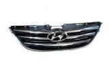 Решетка черная с хром для Хендай Соната / Hyundai Sonata - 6 Поколение