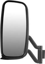 Зеркало левое большое электрическое с кронштейном с подогревом для Вольво Фн / Фм / Volvo Fh / Fm