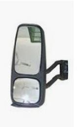 Зеркало левое в сборе с кронштейном верхнее и нижнее механическое для Вольво Фн / Фм / Volvo Fh / Fm