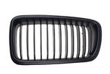 Решетка радиатора левая тюнинг полностью черная для Бмв Е38 / Bmw E38