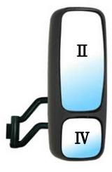 Зеркало правое в сборе с кронштейном верхнее электрическое нижнее механическое с подогрев для Вольво Фн / Фм / Volvo Fh / Fm