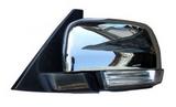 Зеркало левое электрическое с подогревом автоскладыватель с поворотником подсветка хром для Митсубиси Паджеро / Монтеро / Mitsubishi Pajero - 4 Поколение