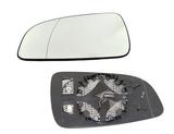 Стекло левого зеркала с подогревом хром для Опель Астра Х / Opel Astra H