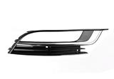 Решётка в передний бампер правая с отверстием под птф хром молдинг для Фольксваген Пассат Сс / Volkswagen Passat Cc