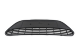 Решётка в передний бампер центральная чёрная без хром молдинга для Форд Фокус / Ford Focus - 2 Поколение