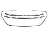 Молдинг решётки радиатора серый для Пежо 301 / Peugeot 301