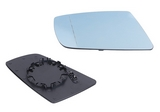 Стекло левого зеркала с подогревом синее для Бмв Е60 / Bmw E60
