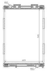 РАДИАТОР ОХЛАЖДЕНИЯ (945 x 689 mm)