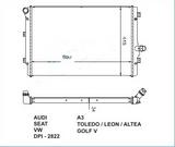 РАДИАТОР ОХЛАЖДЕНИЯ ДВИГАТЕЛЯ 2.0 Tdi/2,0TFSI/2,5 +/-AC MКПП/AКПП 32mm