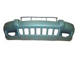 Передний бампер с отверстиями под противотуманки грунтованный для Джип Гранд Чероки / Jeep Grand Cherokee - 2 Поколение Wj Wg