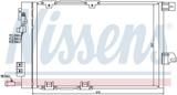 КОНДЕНСАТОР (РАДИАТОР) КОНДИЦИОНЕРА (540x380mm)