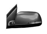 Зеркало левое электрическое с подогревом указателем поворота 7 контактов грунтованное для Киа Пиканто / Kia Picanto - 2 Поколение