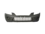 Бампер передний без отверстий под птф грунт черный для Хонда Срв / Honda Cr-v - 3 Поколение