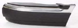 Боковина переднего бампера левая с хром молдинг черная для Шевроле Блейзер / Chevrolet Blazer
