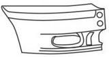 Боковина переднего бампера правая серая для Форд Транзит / Ford Transit Mark 6