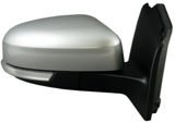 Зеркало правое электрическое с подогревом , с поворотником автоскладыватель с датчиком температуры, с подсветкой грунтованное   для Форд Фокус / Ford Focus - 3 Поколение