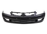 Передний бампер черный для Митсубиси Лансер / Mitsubishi Lancer 9