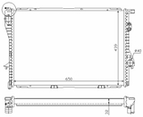 РАДИАТОР ОХЛАЖДЕНИЯ 525 TDS (94-) 525TD (96-) 525 TDS +AC