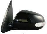 Зеркало левое электрическое с подогревом - автоскладыватель , с поворотником грунтованное  для Киа Церато / Kia Cerato - 2 Поколение