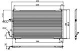 РАДИАТОР КОНДИЦИОНЕРА 1.6/1.8/1.8 16V/2.0 16V/2.0 16V Turbo/3.0 V6 24V/1.9 D/2.0 HDI