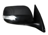 Зеркало правое электрическое без подогрева с автоскладывателем с поворотником крышка хром 7 контактов для Тойота Ленд Крузер Прадо 150 / Toyota Land Cruiser Prado 150