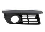Решетка переднего бампера правая с отверстиями под противотуманки хром для Фольксваген Джетта / Volkswagen Jetta