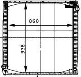 РАДИАТОР ОХЛАЖДЕНИЯ (860 x 920 x 40 mm)
