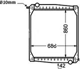 РАДИАТОР ОХЛАЖДЕНИЯ (860 x 679 x 48 mm)