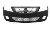 Бампер передний с решеткой с отверстиями под птф черный для Рено Логан / Renault Logan - 1 Поколение