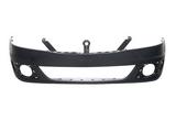 Передний бампер с отверстиями под противотуманки черный для Рено Логан / Renault Logan - 1 Поколение