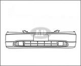 Бампер передний черный для Хонда Цивик Седан / Купе Хэтчбэк / Honda Civic - 7 Поколение Седан / Купехетчбек