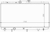 РАДИАТОР ОХЛАЖДЕНИЯ ДВИГАТЕЛЯ 1,5 16V / (AE101) 1,6 AКПП