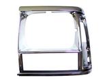 Решетка радиатора левая хром-черная для Джип Чероки / Jeep Cherokee - 1 Поколение Xj