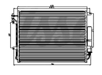 КОНДЕНСАТОР (РАДИАТОР) КОНДИЦИОНЕРА 4 (бензин)