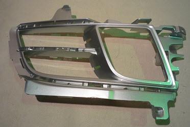 Решетка переднего бампера правая с отв под противотуманки серебрист для Мазда 6 / Mazda 6 - 2 Поколение