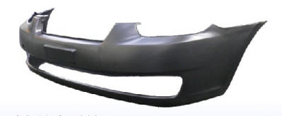 Передний бампер черный для Хендай Верна / Hyundai Verna