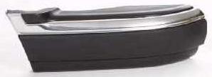 Боковина переднего бампера правая с хром молдинг черная для Шевроле Блейзер / Chevrolet Blazer