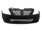 Бампер передний с решеткой без отверстий под птф черный для Рено Логан / Renault Logan - 1 Поколение