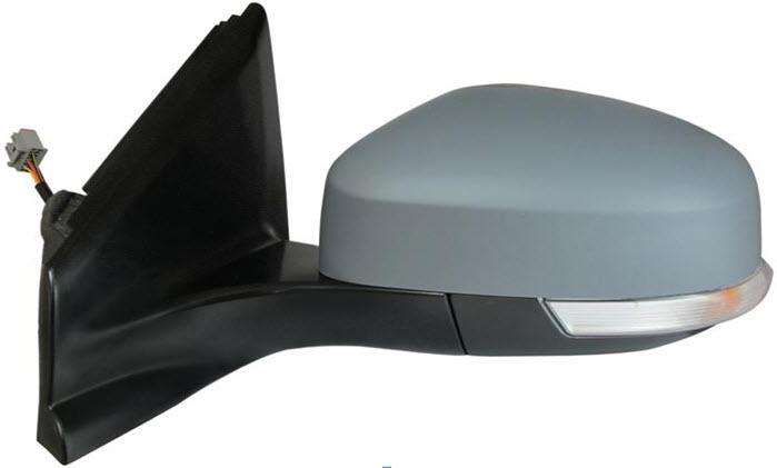 Зеркало левое электрическое с подогревом автоскладыватель с поворотником грунтованное  для Форд Мондео / Ford Mondeo - 4 Поколение