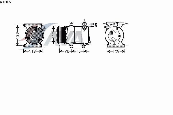 КОМПРЕССОР КОНДИЦИОНЕРА 2.2 (турбодизель)