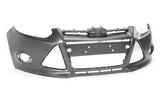 Бампер передний грунтованный без отверстий под омыватель для Форд Фокус / Ford Focus - 3 Поколение