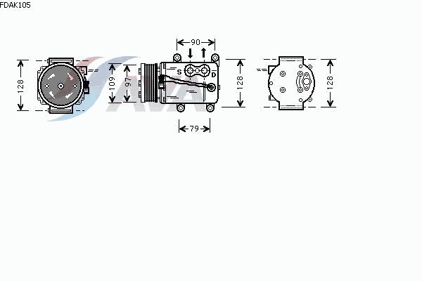 КОМПРЕССОР КОНДИЦИОНЕРА (1.8D 96-)