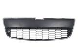 Решётка в передний бампер нижняя хром/черная для Шевроле Авео / Chevrolet Aveo T300