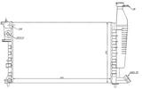 Радиатор охлаждения двигателя 1,4/1,6 16клап /1,8 +/- ac для Ситроен Берлинго - 1 Поколение / Citroen Berlingo